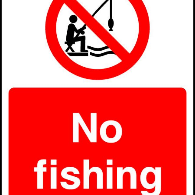 No Fishing Sign Hfe Signs Banners