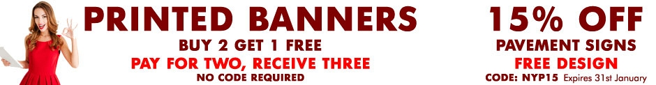 Buy 2 Get 1 FREE Banners