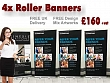 4x Roll up Banners £160+vat