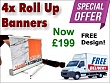 4x Roll up Banners £199+vat