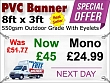 8ft x 3ft PVC Banner Special Offer