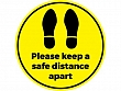 Safe Distance Floor Stickers