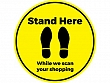 Stand Here Floor Stickers