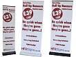 End of line clearance roller banners