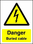 Danger Buried Cables Portrait