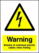Warning Beware Of Overhead Electric Cables When Fishing