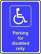 Disabled Only Parking