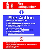 Fire Action Extinguisher