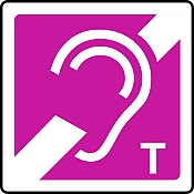 Hearing Loop T Sign