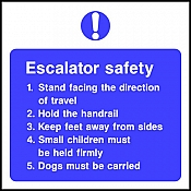 Escalator Safety - Safety Signs