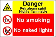 Petrol No Naked Lights