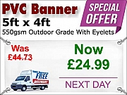 5ft x 4ft Full Colour Special Offer