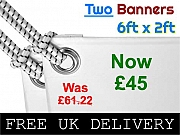 Two 6x2ft Banners Offers