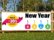 New Year Sales Printed Banner