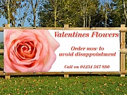 Valentines Flowers Banners