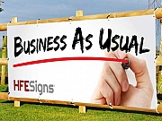 Business as usual Banner Signs