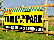 Think Before You Park Banners