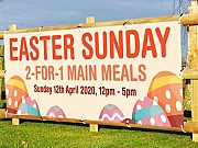 Easter 2 for 1 Meal Pub Food Promotional Banners