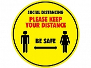 Safe Distance Stickers