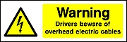 Warning Drivers Overhead Cables Landscape