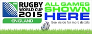 World Cup Rugby Shown Here Banners