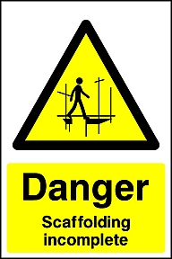 Danger Scaffolding Signs