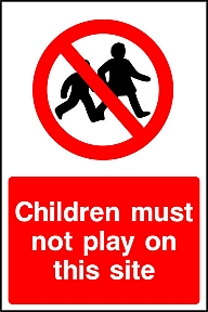 No Children Signs