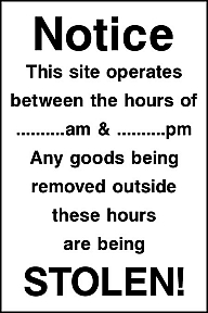 Site Notice Signs