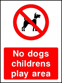 No Dogs Play Area