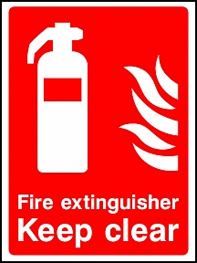 Extinguisher Keep Clear
