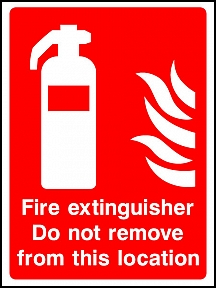 Extinguisher Do Not Remove