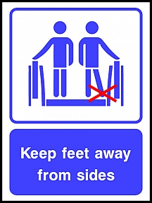 Keep Feet Away From Sides