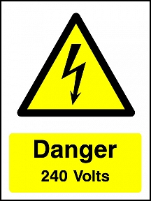Danger 240V Portrait