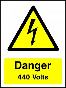 Danger 440V Portrait