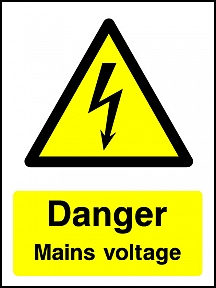 Danger Mains Voltage Portrait