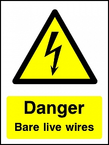 Danger Bare Wires Portrait