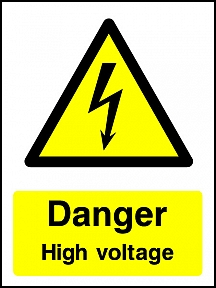 Danger High Voltage Portrait