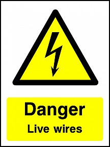 Danger Live Wires Portrait