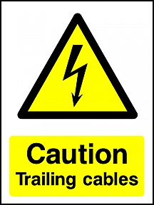 Caution Trailing Cables Portrait