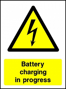 Warning Battery Charging Portrait