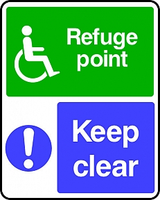 Disabled Refuge Point Keep Clear