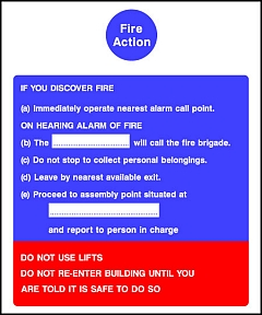 Fire Action Instructions