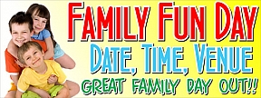Family Fun Day Banners