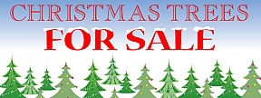 Christmas Tree Banner Amp Xmas Tree For Sale Signs Uk Hfe