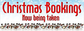 Christmas Bookings Now Being Taken Banner