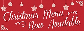 Christmas Menu Available Now Banners