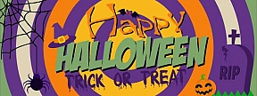 Happy Halloween - Trick or Treat Banners