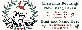 Christmas Bookings Now Being Taken Outdoor Printed Banners