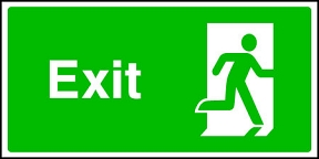 Exit (man right)
