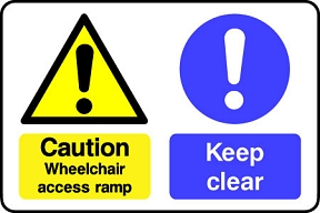 Keep Clear Wheelchair Access Ramp